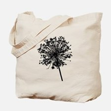 Cute Dandelion white black Tote Bag
