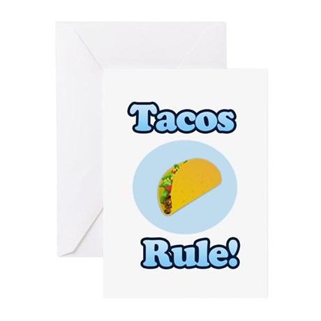 Tacos Rule! Greeting Cards (Pk of 10)
