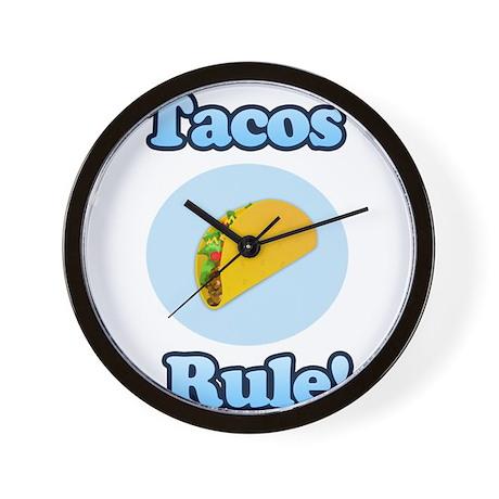 Tacos Rule! Wall Clock