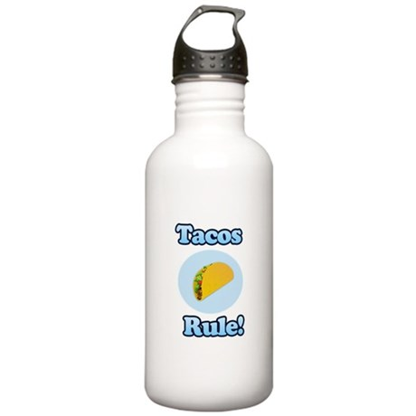 Tacos Rule! Stainless Water Bottle 1.0L
