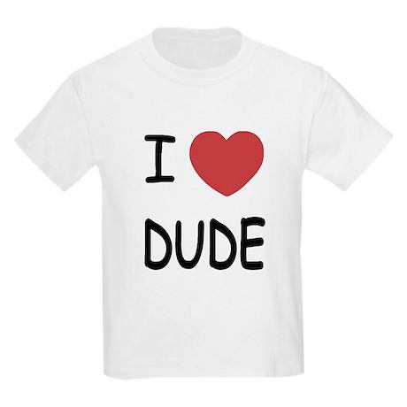 I heart dude Kids Light T-Shirt