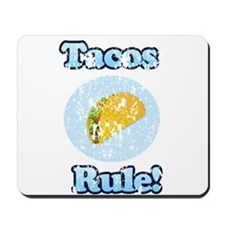 Vintage Tacos Rule Mousepad