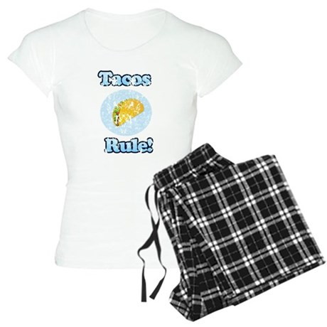 Vintage Tacos Rule Women's Light Pajamas