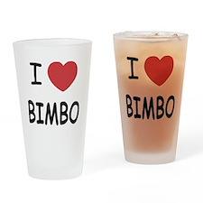 I heart bimbo Drinking Glass