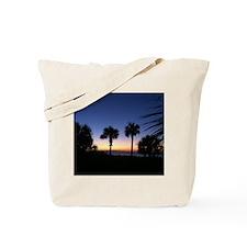 Tropical Beach Palm Trees Tote Bag