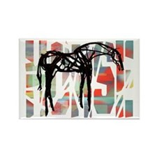 The Abstract Horse Rectangle Magnet