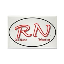 Real Nurse Rectangle Magnet