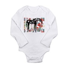 The Abstract Horse Long Sleeve Infant Bodysuit