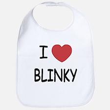 I heart blinky Bib
