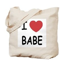 I heart babe Tote Bag