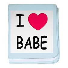I heart babe baby blanket