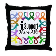 I Support Them All Throw Pillow