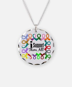 I Support Them All Necklace Circle Charm