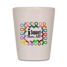I Support Them All Shot Glass
