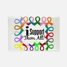 I Support Them All Rectangle Magnet