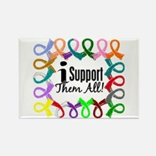 I Support Them All Rectangle Magnet (10 pack)