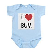 I heart bum Infant Bodysuit