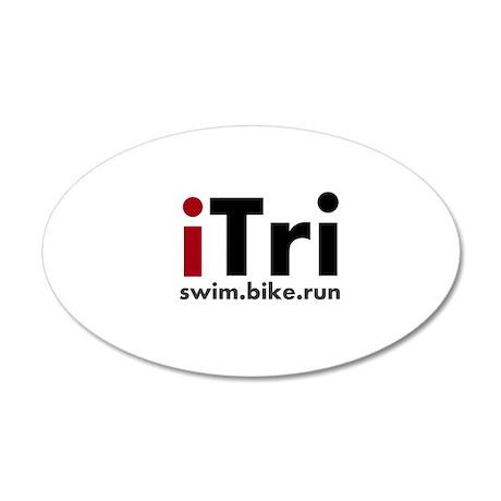 iTri Triathlon Merchandise 22x14 Oval Wall Peel