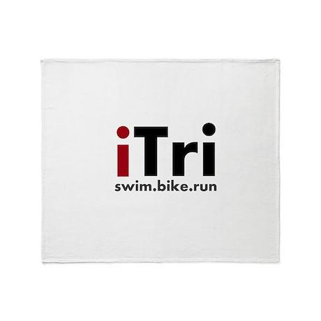 iTri Triathlon Merchandise Throw Blanket