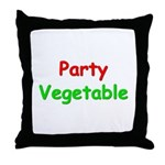 Party Vegetable Throw Pillow