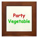 Party Vegetable Framed Tile