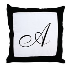 A Initial Throw Pillow