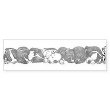 peaceful puppies Bumper Bumper Sticker