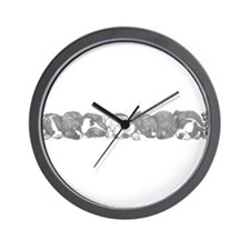 peaceful puppies Wall Clock
