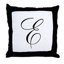 E Initial Throw Pillow