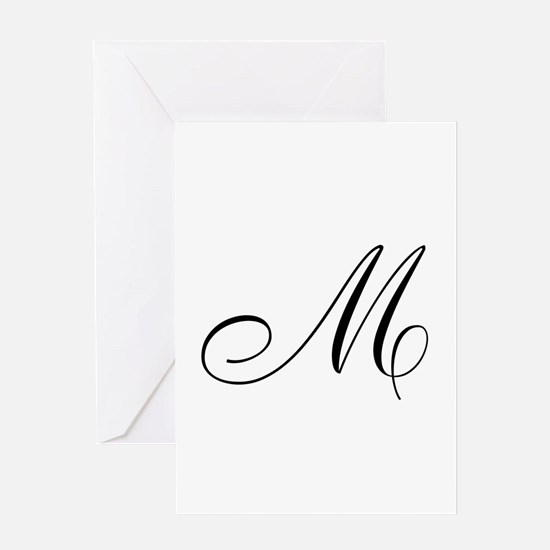 M Initial Greeting Card