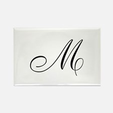M Initial Rectangle Magnet