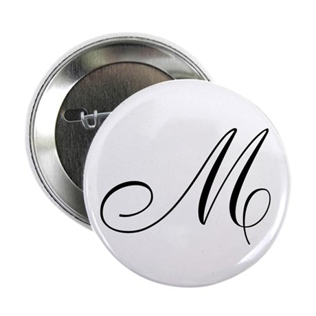 "M Initial 2.25"" Button (100 pack)"