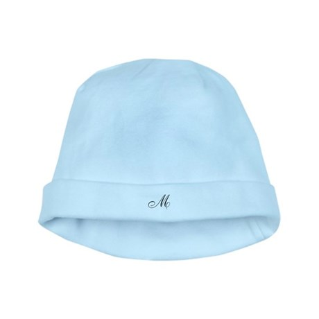 M Initial baby hat