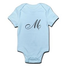 M Initial Infant Bodysuit