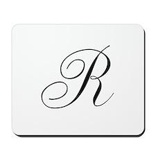 R Initial Mousepad