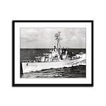 USS HYMAN Framed Panel Print