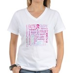 Awareness Word Cloud Women's V-Neck T-Shirt