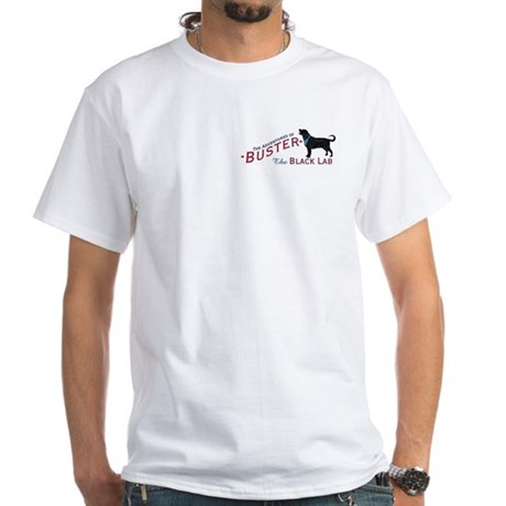 Buster the Black Lab White T-Shirt