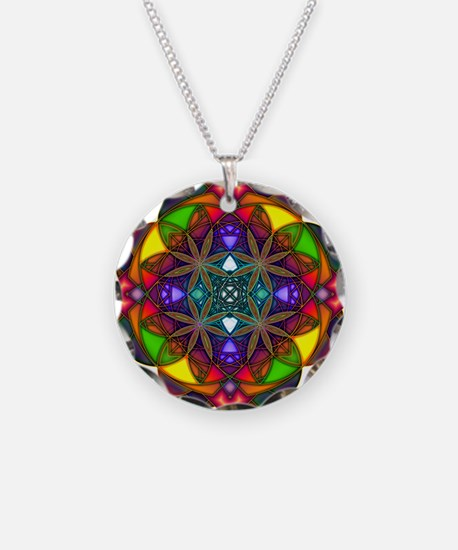 Meditate Necklace Circle Charm