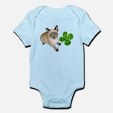 Kitten 4 Leaf Clover Infant Bodysuit
