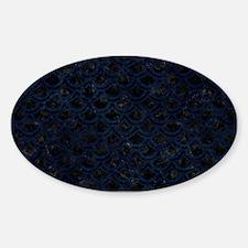 SCALES2 BLACK MARBLE & BLUE GRUNGE Sticker (Oval)