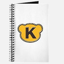 Bear Head Initial K Journal