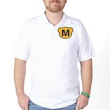 Bear Head Initial M T-Shirt