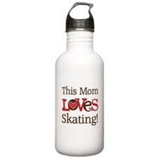 Mom Loves Skating Water Bottle