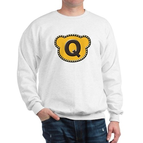 Bear Head Initial Q Sweatshirt