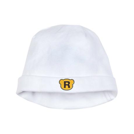 Bear Head Initial R baby hat