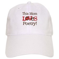 Mom Loves Poetry Baseball Cap