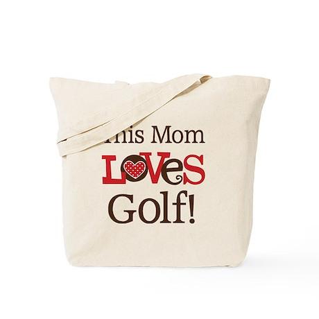Mom Loves Golf Tote Bag
