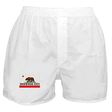 Redwood City,Ca -- T-Shirt Boxer Shorts