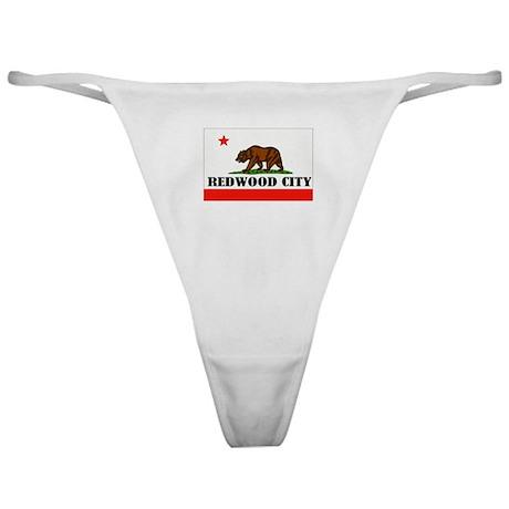 Redwood City,Ca -- T-Shirt Classic Thong